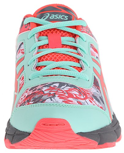 Asics Gel-Noosa Tri 11 GS Running Shoe (Little Kid/Big Kid) White/Diva Pink/Mint
