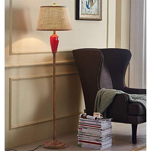 Sumferkyh-lt Metallstehlampe-Standardlesung-hohes Licht für Wohnzimmer mit Gewebelichtschirm für das Lesen im Wohnzimmer (Farbe : Rot, Größe : 25.5 * 25.5 * 152cm) - Licht Arc Stehlampe