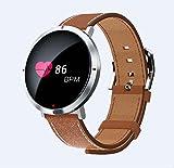 Nlne Bluetooth Smart Wear Sports Schrittzähler Schlafüberwachung Smart Watch,Brown