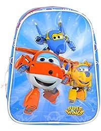 Super Wings - Sac à dos bleu Super Wings avec Jett et ses amis