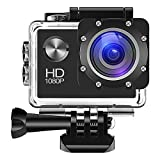 Sport Action Camera, yue Ying Action Cam Ultra Full HD 720P, 12MP ,140 Ultra Grandangolare, impermeabile, Accessori gratuiti