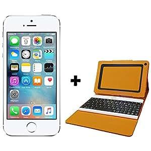 iphone 5s 16go argent pochette et clavier bluetooth meepx2 high tech. Black Bedroom Furniture Sets. Home Design Ideas