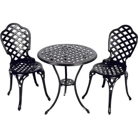 Bistro Set Leeds alluminio pressofuso sedia tavolo