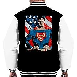 Sidney Maurer Original Portrait Of Superman Christopher Reeve Men's Varsity Jacket