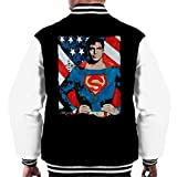 Sidney Maurer Original Portrait Of Superman Christopher Reeve Men's Varsity Jacket