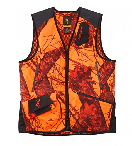 BROWNING Weste XPO LIGHT MOBLZ ORANGE Schießweste Jagdweste Mossy Oak Orange Camo, Größen:L (Weste Jagd Orange)