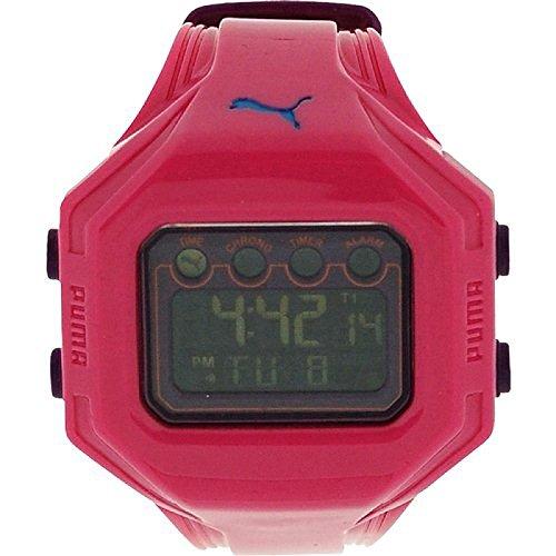 Puma Ladies Bounce-S Pink Digital Chronograph Plastic Strap Watch PU910772005