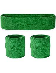 Suddora–Set infantil, 1 banda para cabeza y 2 muñequeras, verde