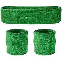 suddora Juego de Sweatband Diadema (1/2pulseras) Verde verde