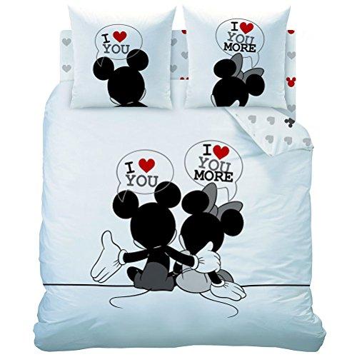 Ropa de cama de Mickey Mouse y Minnie Mouse 'the End', 200 x 200 cm