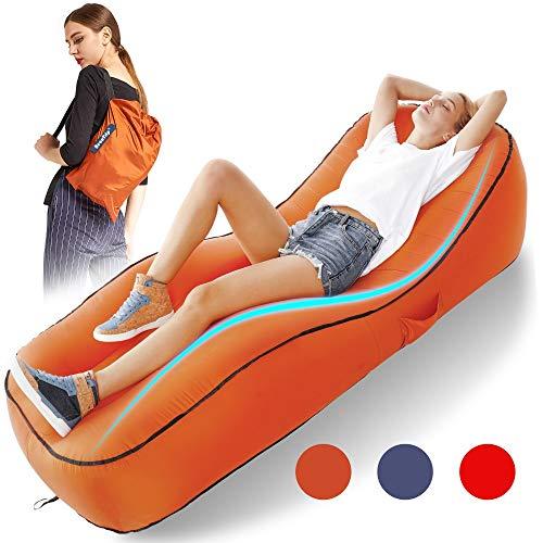 SLONG Aufblasbar Liege Luftsack Aufblasbare Couch,Luftsofa Wasserdichtes Aufblasbares Sofa Couch Outdoor Luft Sitzsack Tragbare Aufblasbares Air Lounge, für Indoor Oder Outdoor, Reisen, Camping