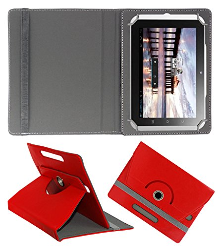 Acm Rotating 360° Leather Flip Case For Hcl Me Y2 Tablet Cover Stand Red  available at amazon for Rs.149