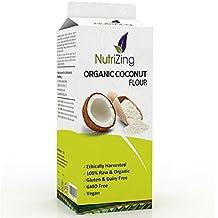 NutriZing - Harina de Coco Orgánico ~ Bolsa de 1 kg ~ Envase Resellable Prémium de