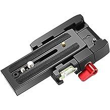 Neewer professionale in lega di alluminio Quick shoe piastra compatibile con 1/43/8inches vite per treppiedi per videocamera DSLR, compatibile con Manfrotto 501HDV 503HDV 701HDV 577/519/561/Q5(rosso)