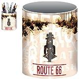 "Pinkmarket - B12833 Hucha infantil cilindro en metal. Bote VINTAGE Modelo ""Route 66"". (10 x 7,5 cm.)"