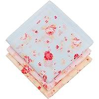 Gomerbesen Vintage Womens Handkerchief Cotton Flowers Hankies for Wedding party