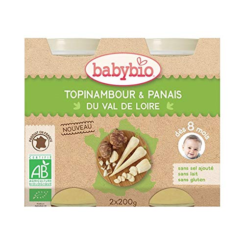 Babybio Lot de 2 Pot Topinambour Panais 260 g