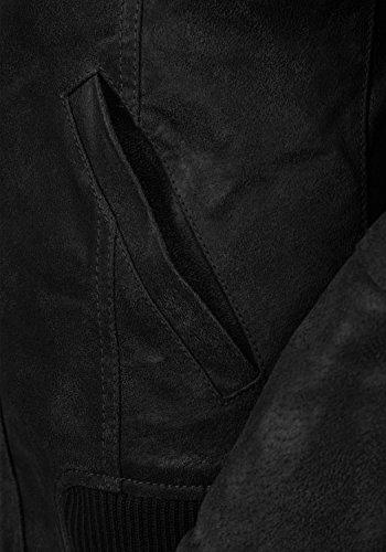 DESIRES Fame Damen Lederjacke Bikerjacke Echtleder Mit Stehkragen, Größe:XS, Farbe:Black (9000) - 6