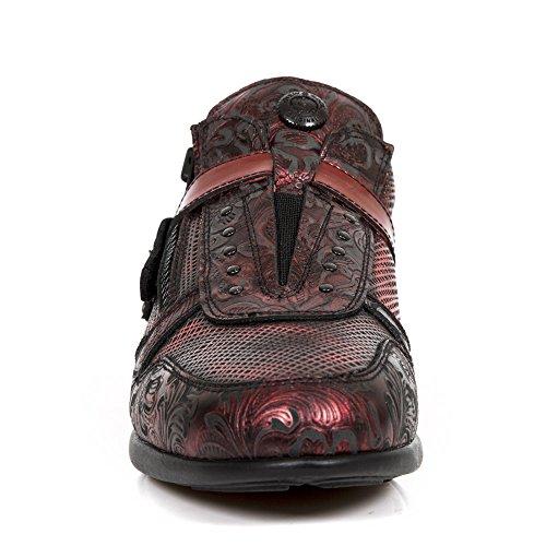 Vermelhos De s5 Vermelho Couro hy018 M Vermelho Sapatos Híbridos Novo Rock Homens xztAUUY