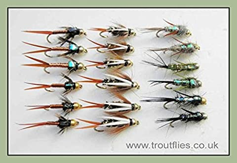 Gold Head Nymph Trout Flies,18 Prince, Copper John, Evil Weevil,