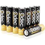 Odec Batería Recargable AA 2450 mAh, Pilas de Ni-MH 1,2 V, Paquete de 8, 1200 Ciclo de Carga
