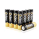 Odec AA Piles Rechargeables 2450 mAh, Accus HR6/Mignon 1,2V Ni-MH, 1200 cycles de charge, lot de 8