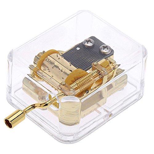 Acryl Hand-Klassischen Gold Spieluhr Musik Box Hochzeit Valentinstag Weihnachten Geschenk Kinder Spielzeug - Carrying You Castle In The Sky (Valentinstag Für Kinder)