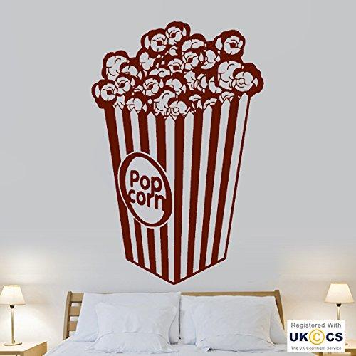 Wand Kino (Popcorn Essen Kino Film Film Cool Living Wand Kunst Aufkleber Vinyl Zimmer Schlafzimmer Jungen Mädchen Kinder Erwachsene Home Wohnzimmer Zitate Küche)