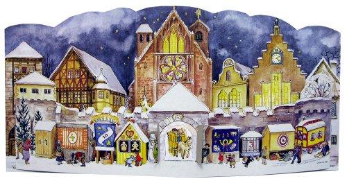Grand Calendrier de l'Avent 24portes Calendrier de l'Avent 3D Cathédrale Place 1947430x 205mm-930-Design Antique Allemand traditionnel