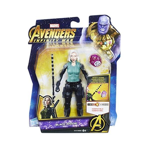 Marvel- Figura Infinity War, Black Widow con Gema y Accesorio (Hasbro E1411EU4) 6