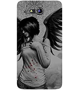 For Huawei Honor 3x Cartoon, Black, Cartoon and Animation, Printed Designer Back Case Cover By CHAPLOOS