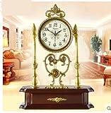 Europeo antiguo silent Bell reloj de bronce de salón Reloj minimalista moderno reloj grande de la...