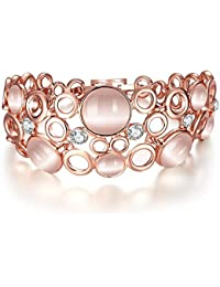 Yellow Chimes Classic Femme Collection Opal Multi Strand Bracelet for Women (Rose Gold)(YCFJBR-132OPL-RG)