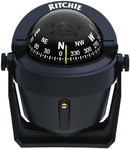 Ritchie Navigation Boating Ritchie Explorer Bracket Mount Compass, Black, 2.75-inch Dial 1