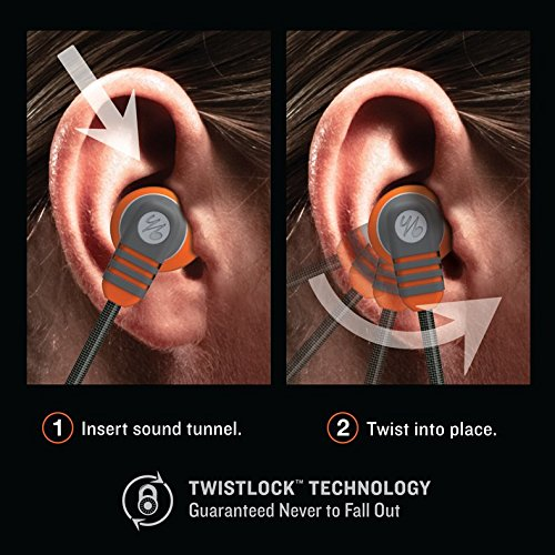 Yurbuds by JBL Adventure Series Venture Pro In-Ear Sport Kopfhörer (3-Tasten Fernbedienung/Mikrofon für Anruf- und Musiksteuerung, geeignet für Apple iOS Geräten) orange - 4