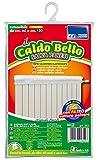 Parodi&Parodi Caldo Bello Wandschutz, Art. 354, Abdeckung für Heizkörper, Dehnbar von 60 bis 120 cm, aus Baumwolle, Farbe: Elfenbein