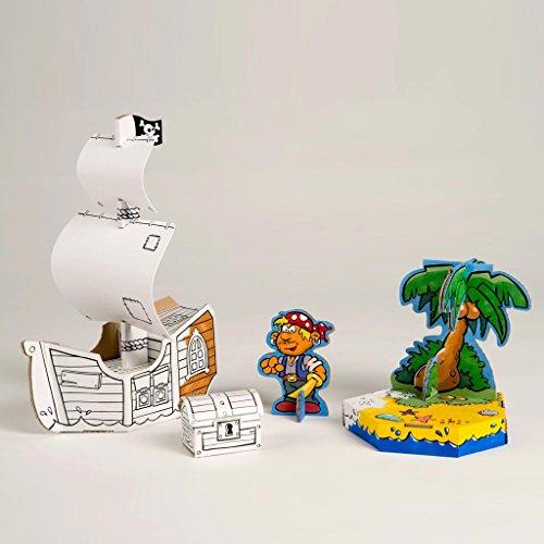Costruisci la tua nave dei pirati disegnare e colorare for Costruisci e progetta la tua casa