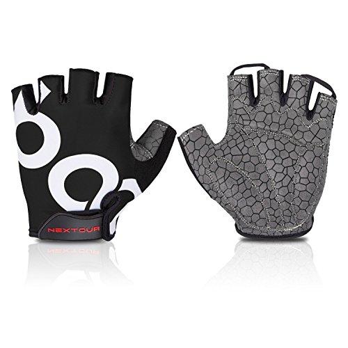 NEXTOUR Cycling Gloves Mountain Bike Gloves Half Finger Road Racing Riding Gloves with Light Anti-slip Shock-absorbing Biking Gloves for Men and Women