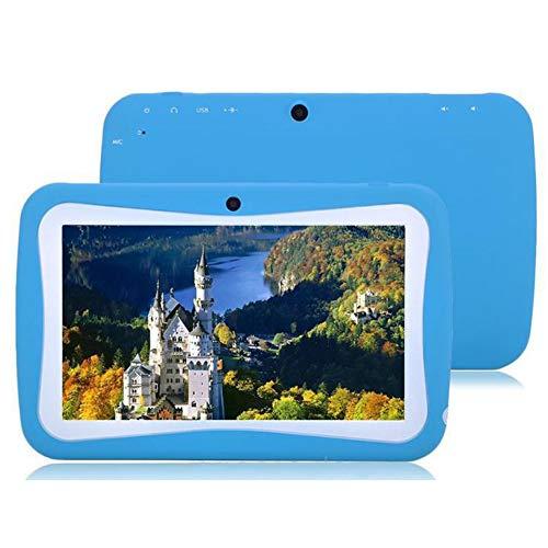 WANGOFUN Kindertablet mit 7-Zoll-HD-Display Quad Core Kindertablet 1 GB RAM 8 GB ROM mit WiFi-Dual-Kamera Pädagogischer Touchscreen Kindermodus Kindersicherung,Blue (Tabs Monster Kleidung Für)