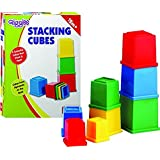TANZAIB Giggles Stacking Cubes, Multi Color