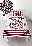 Harry Potter Einzelbett Bettwäscheset, Bettbezug Bettwäsche Set Doppel-Decke Kinder Jungen Mädchen, Harry Potter Hogwarts, Einzelbett