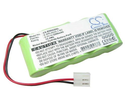 Hochleistungs Li-Ion Akku 6V / 2200mAh ersetzt Bosch E-BRLX620-1-NC für Somfy Easy-Lift BD5000 BD6000 Easylift BD-5000 BD-6000