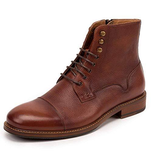 Shoe house Stivali da Uomo Casual Pelle Caviglia Moda Inverno Soft Toe Impermeabile Scarpe da Lavoro Isolato Costruzione Suola in Gomma,B,EU41/US8(M)/UK7