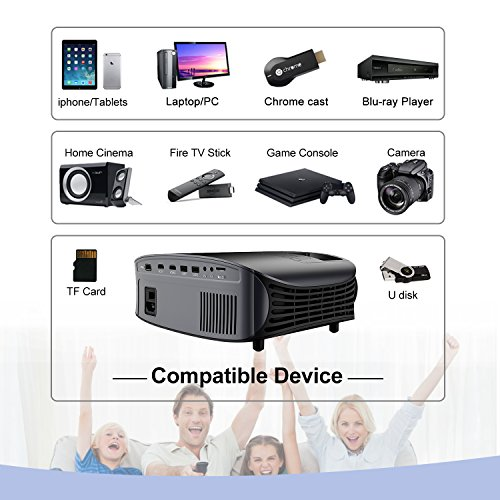 Artlii Home Theater Projector Black