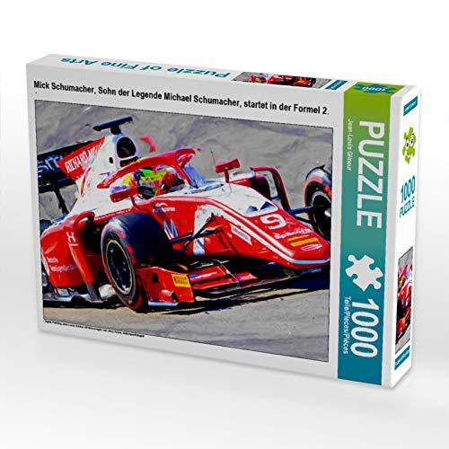 2 Teil-formel (CALVENDO Puzzle Mick Schumacher, Sohn der Legende Michael Schumacher, startet in der Formel 2. 1000 Teile Lege-Größe 64 x 48 cm Foto-Puzzle Bild von Jean-Louis Glineur)