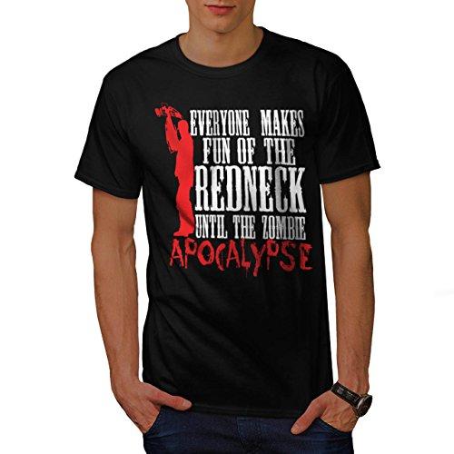 Spaß Apokalypse Zombie Kultur Herren M T-shirt | (Kopflose Kostüm Leiche)