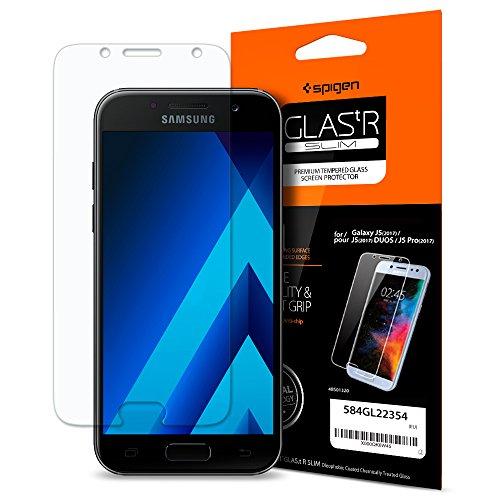 Galleria fotografica Spigen Vetro Temperato Samsung Galaxy J5 2017 Duos, proteggischermo trasparente, Pellicola Samsung Galaxy J5 2017 Duos, protezione per schermo (584GL22354)