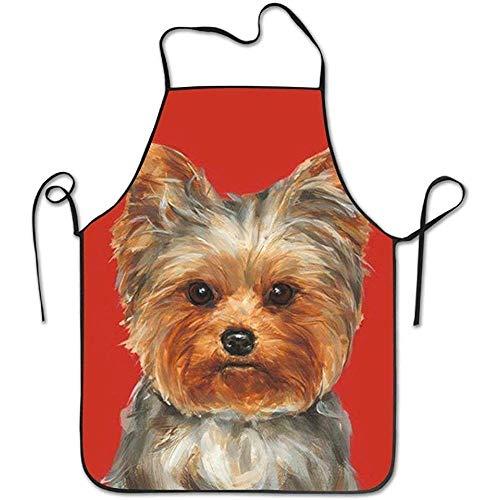 Zhengzho Yorkie Hund Tier Schürzen für Frauen/Männer Gag Geschenk Grillen personalisierte Haltung Funny Chef Schürze -