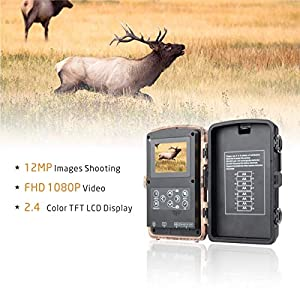 Campark Trail Wildlife Camera Trap 12MP 1080P Wild Hunting Cam Infrared Motion Activated Night Vision IP56 Waterproof for Outdoor Field Home Security