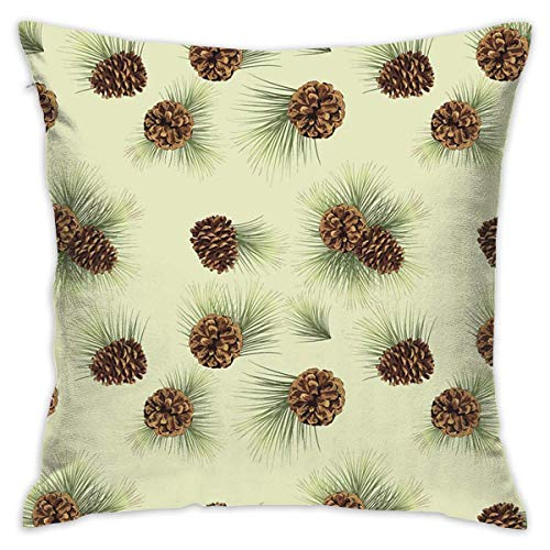 FPDecor Funda de Almohada, Square Cushion Covers Cute Pinecone Throw Pillow Covers Cases for Couch Bed...